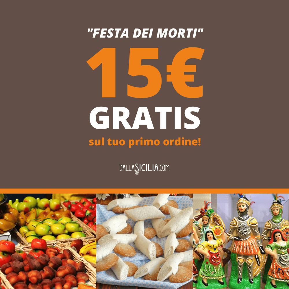 Festa dei morti: 15€ GRATIS sul tuo primo ordine!